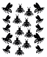 Bees 100 x 120 sold in 3\'s